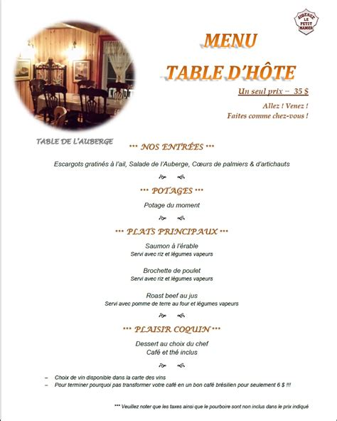 Table D Hôte by Table Dhote