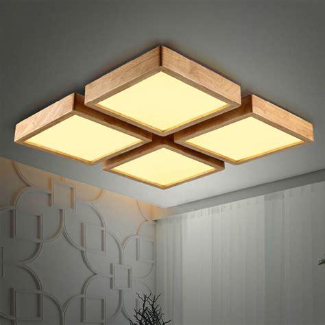 64w modern led ceiling light new creative oak modern led ceiling lights for living room bedroom lara techo wooden led