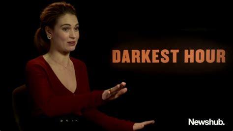 darkest hour youtube lily james darkest hour interview newshub youtube