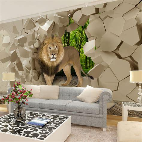 aliexpress com buy murals 3d wallpapers home decor photo aliexpress com buy home decor mural wall papers 3d lion
