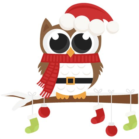 christmas owl pictures santa owl scrapbook clip cut outs for cricut svg cut files free svgs svg