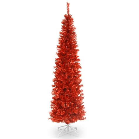 6 12 x 34 tinsel slim christmas tree with 400 clear lights national tree company 6ft unlit tinsel tree seasonal trees