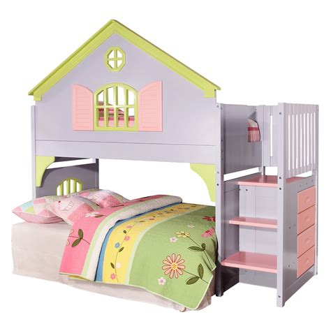 doll house loft bunk bed donco kids donco kids doll house twin loft bed reviews