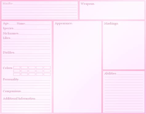 character template sheet blank character reference sheet by angelmarieturan on