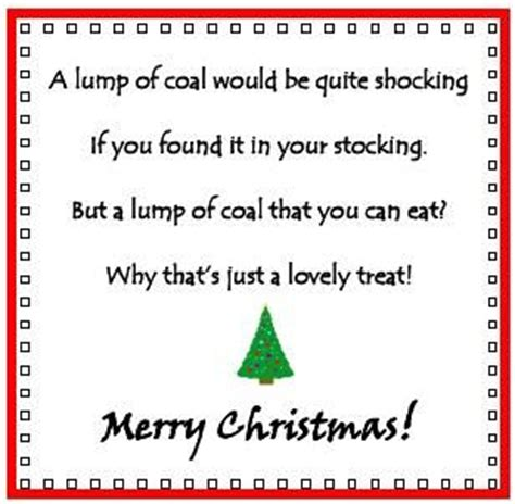a poem at christmas awaiting a late gift being inspired friday freebie 6 rice krispie coal merry poem