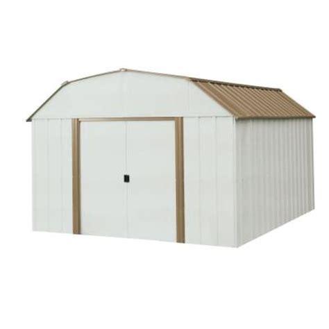 10 X 14 Steel Shed arrow dakota 10 ft x 14 ft steel shed dk1014 the home depot