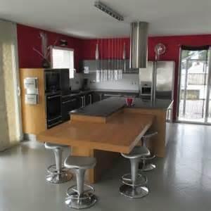 decoration cuisine equipee avec ilot central af d ba b