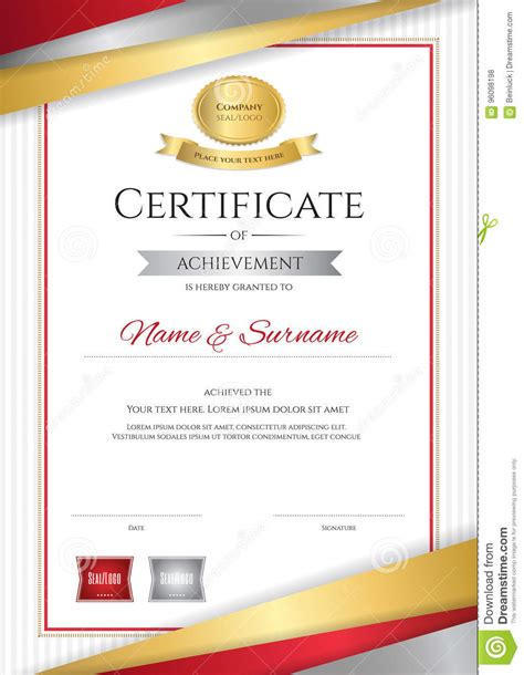 certificate design elegant luxury certificate template with elegant golden border
