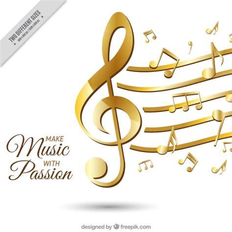 imagenes notas musicales gratis fondo elegante con notas musicales doradas descargar