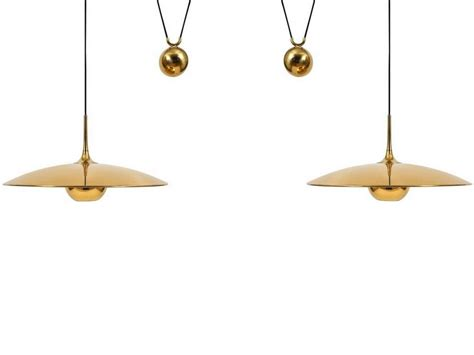 Counterweight Pendant Light with Pendant Light With Two Center Counterweight By Florian Schulz At 1stdibs