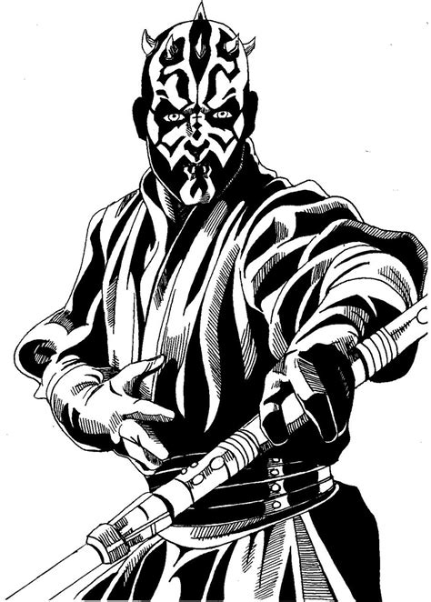 coloring pages of darth maul darth maul coloring pages selfcoloringpages