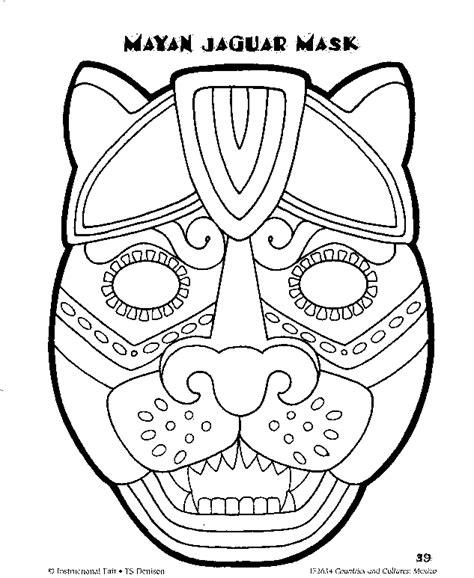 aztec coloring pages pdf printable mayan jaguar mask dušan čech coloring home
