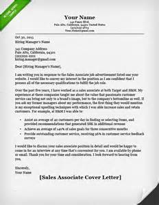 Sle Of Email Cover Letter by Salesperson Marketing Cover Letters Resume Genius