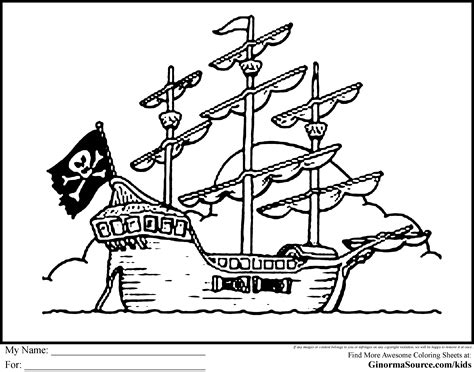 Pirates Ship Coloring Pages Ships Color Or Paint Pages Pirate Themed Coloring Pages