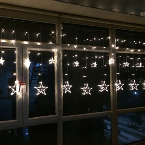 window curtain lights stars led curtain fairy string lights window curtain l