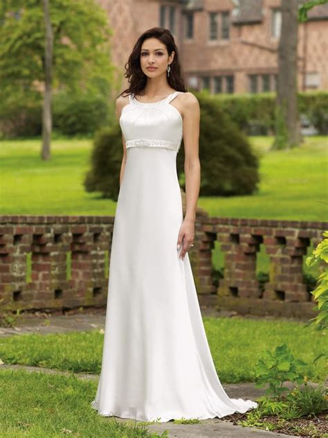 elegant  classy simple wedding dresses cotton wedding