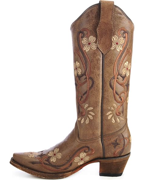 embroidered cowboy boots circle g floral embroidered boots snip toe