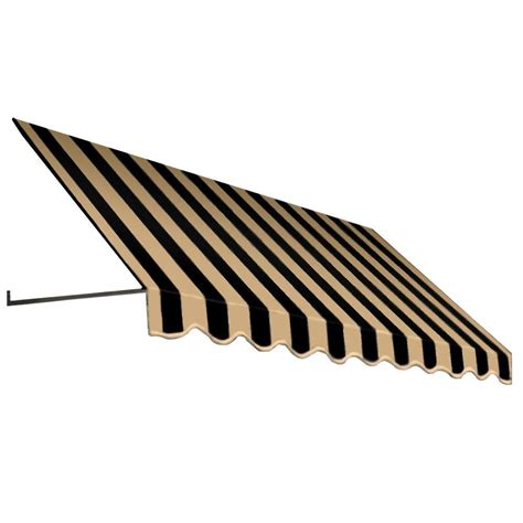 Dallas Awning by Awntech 4 Ft Dallas Retro Window Entry Awning 24 In H X 36 In D In Black Stripe Er23