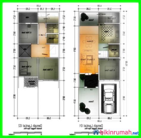 layout denah laundry desain rumah minimalis 2 lantai ukuran 6x15 makin banyak