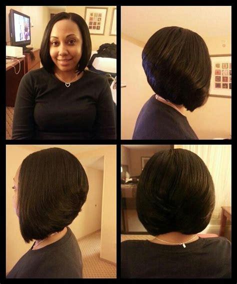 lolayer weave hair stylesng weave layered bob i love it my 3 0 birhday chop pinterest