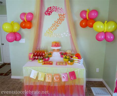 Birthday Home Decoration by Butterfly Themed Birthday Food Desserts Events