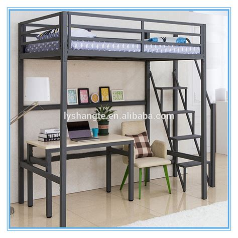 full size metal bed metal bunk bed with desk underneath whitevan