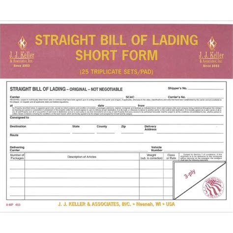 bill of lading form printable sle bill of lading pdf