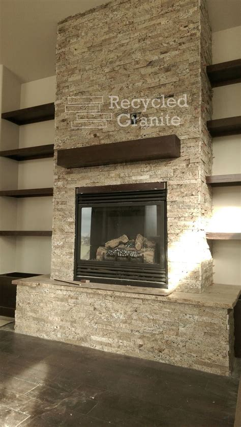 Split Fireplace by Our Recycled Granite Split In Sand Blend Panels