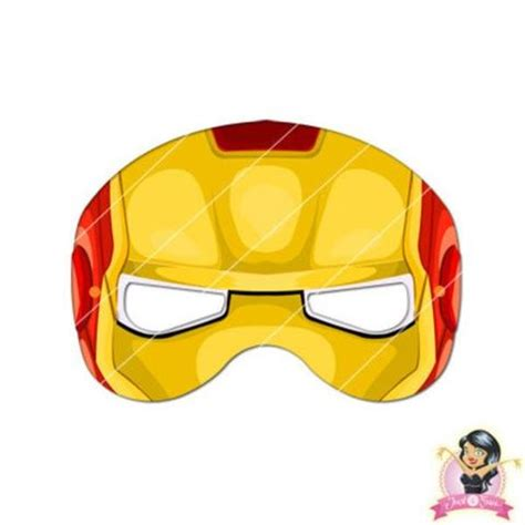 printable ironman mask template childrens printable ironman mask simply party supplies