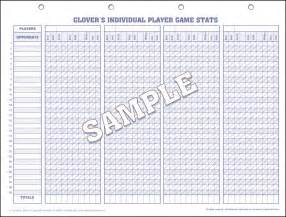 Soccer Stat Sheet Template by S Soccer Scorebooks