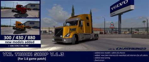 volvo truck shop volvo vnl truck shop 1 6 x modhub us