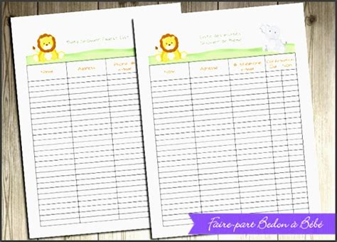 Baby Shower Checklist Excel by 4 Baby Shower Planner Editable Sletemplatess