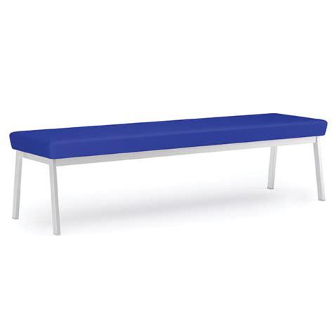 vinyl bench lesro newport series 3 seat bench 68 quot healthcare vinyl