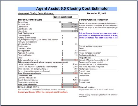 section 184 loan requirements closing costs closing costs calculator