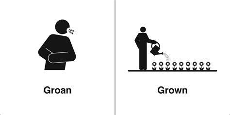Homophones, Weakly: Groan & Grown
