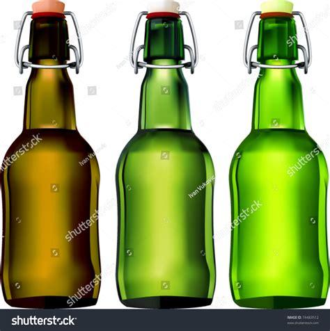 swing top beer bottles vector swing top beer bottles stock vector 74483512