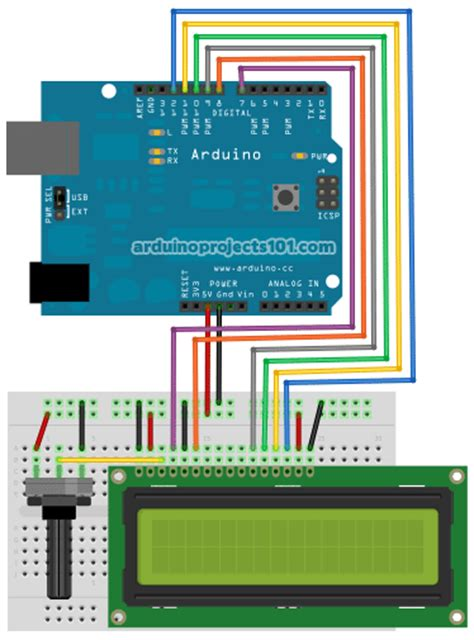 arduino code with lcd connecting arduino lcd display code use arduino for projects