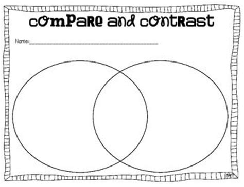 compare and contrast graphic organizer template compare and contrast graphic organizers to use with any
