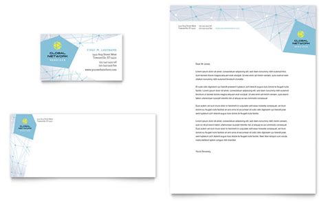 networking business card template global network services business card letterhead