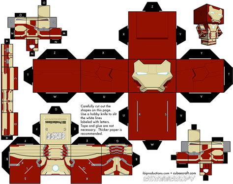 Marvel Papercraft - fashion and iron 3 mk 42 armor cubee diy