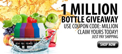 E Juice Giveaway - one million bottles of e liquid giveaway electronic cigarette news