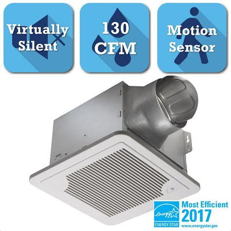 Bathroom Exhaust Fans Motion Sensor Delta Breez Smart Series 130 Cfm Ceiling Exhaust Bath Fan