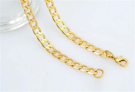 cadenas de oro 18k hombre cadena lomo para hombre enchapado en oro de 18k