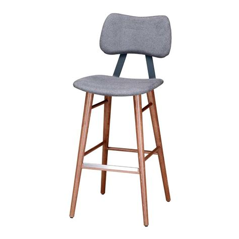 padded bar stools with backs lola bar stool with upholstered seat and back andy thornton