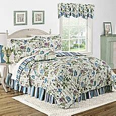 bed bath and beyond charleston wv waverly 174 charleston chirp larkspur reversible quilt set
