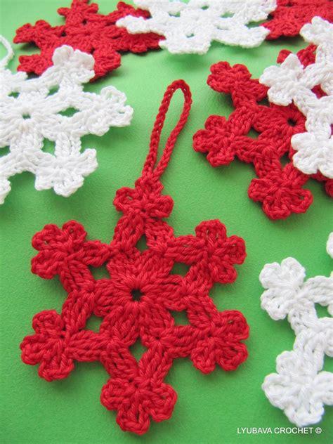 christmas tree snowflake patterns crochet snowflake pattern ornaments diy
