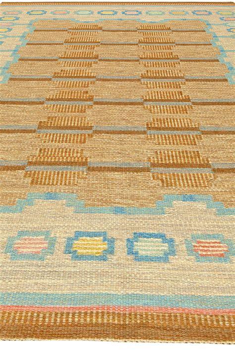 signed rugs vintage swedish flatweave rug signed by aga bb5910 by doris leslie blau