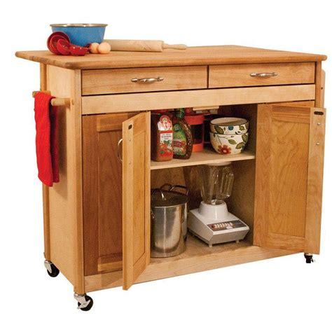 butcher block kitchen island cart catskill craftsmen kitchen cart with storage 64024
