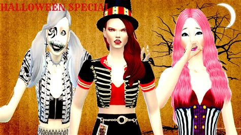 sims 4 halloween costumes sims 4 create a sim halloween special youtube