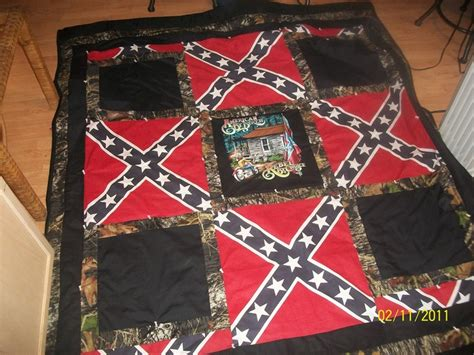 Confederate Flag Quilt by Confederate Flag And Country Biker Quilt S Handmade